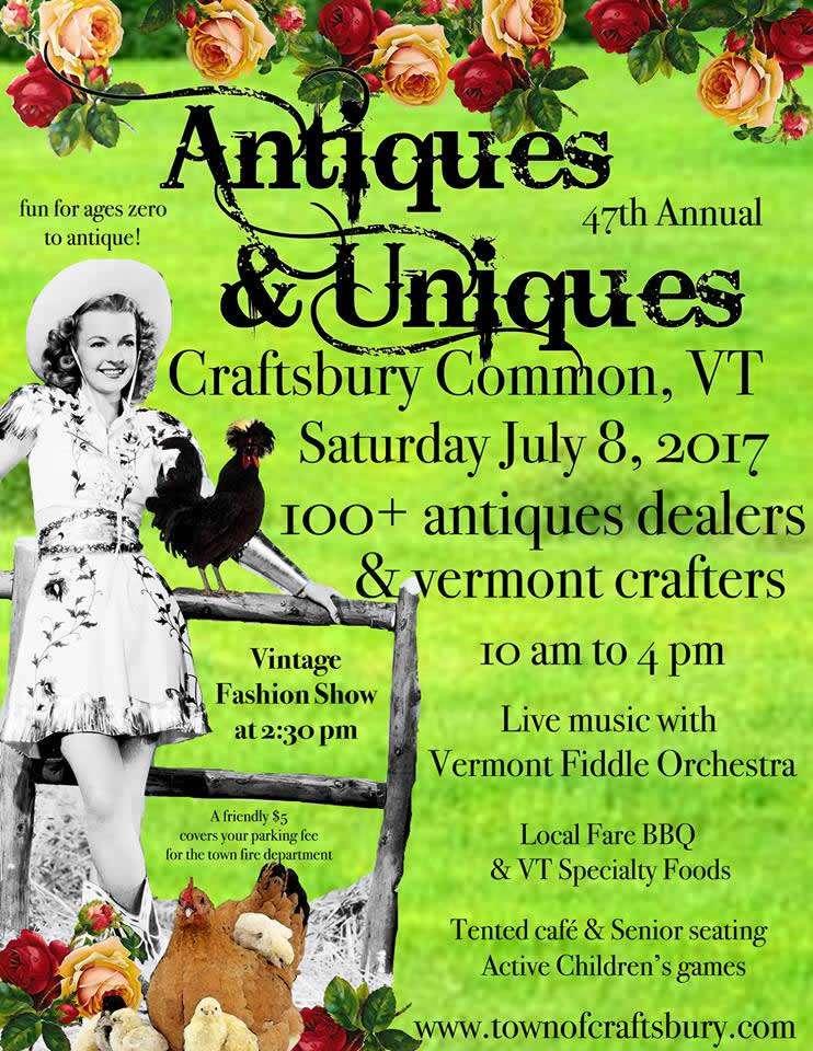 Northeast Kingdom Vermont Events - Antiques & Uniques Festival