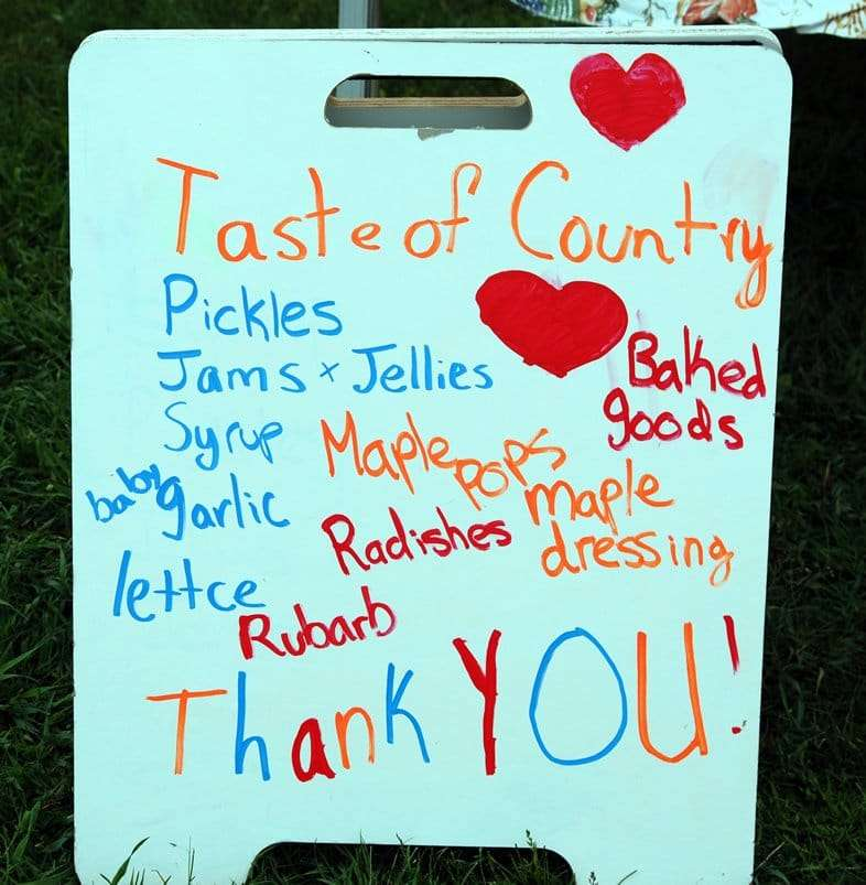 Craftsbury Farmers Market Vendor Products - pickles, jams, jellies, Vermont maple syrup, vegetables, baked goods, garlic