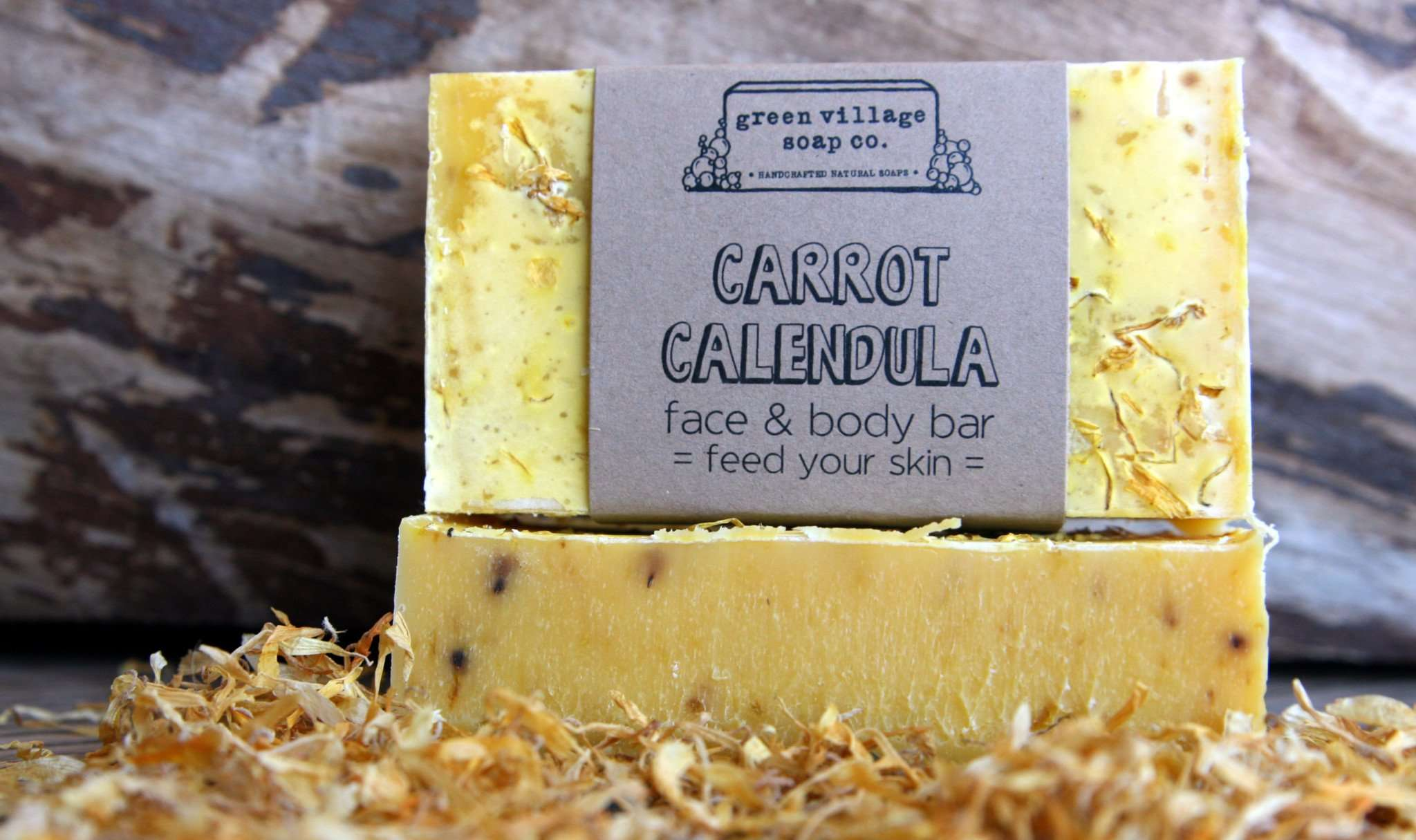 Green Village Soap Carrot Calendula soap