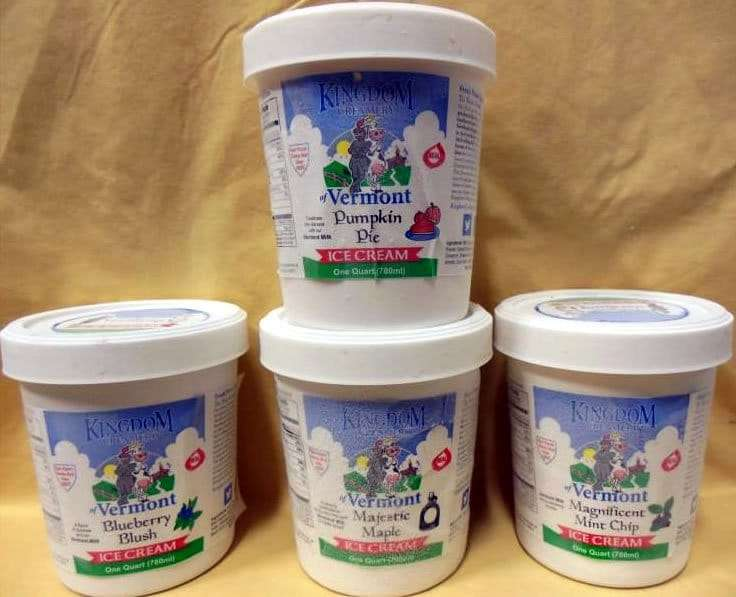 Kingdom Creamery of VT - premium ice cream pints - Craftsbury Farmers Market