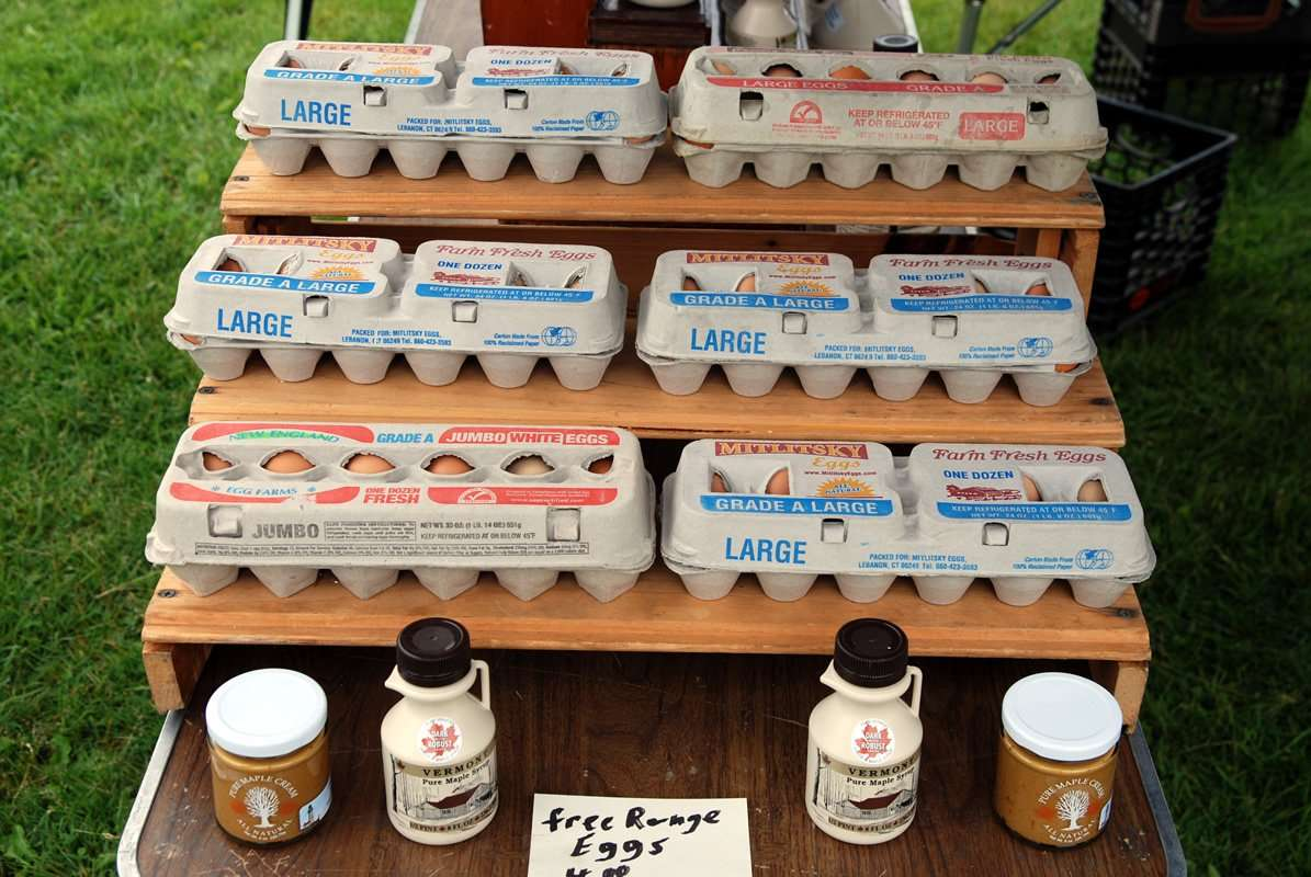Free range chicken eggs - Phil Beaudry - Craftsbury Farmers Market