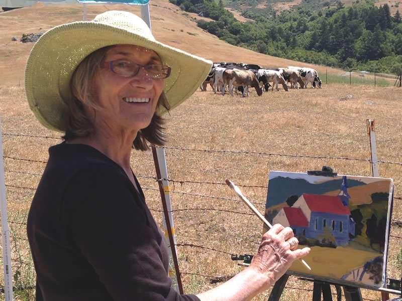Julie Empson - Plein Air Paint the Common artist - Craftsbury Farmers Market