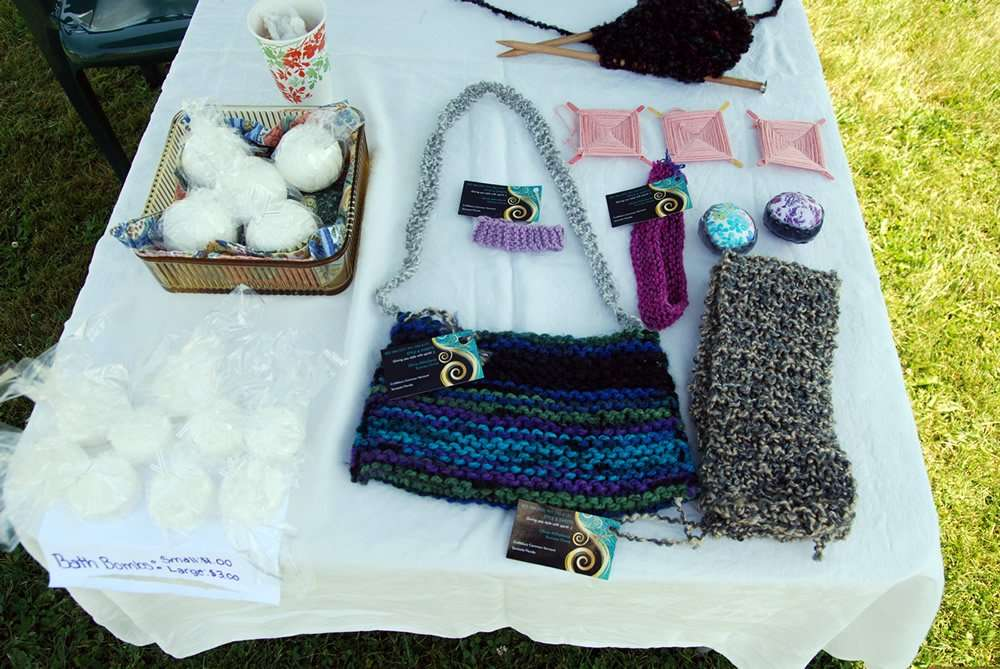 Style & Sweets tea cakes - knitted products - bath bombs - Craftsbury Farmers Market