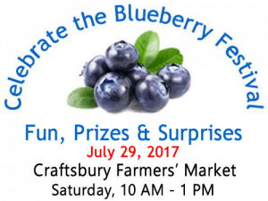 2017 Celebrate the Blueberry Festival at the Craftsbury Farmers' Market