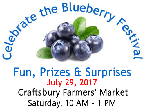 Celebrate the Blueberry Festival - A Vermont blueberry festival at Craftsbury Farmers' Market