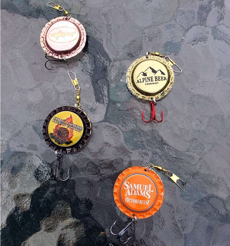 Anne de Vos bottle cap fishing lures
