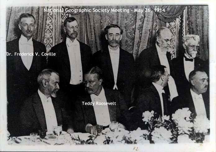 Dr. Frederick Vernon Coville at May 26, 1914 National Geographic Society meeting with Teddy Roosevelt.