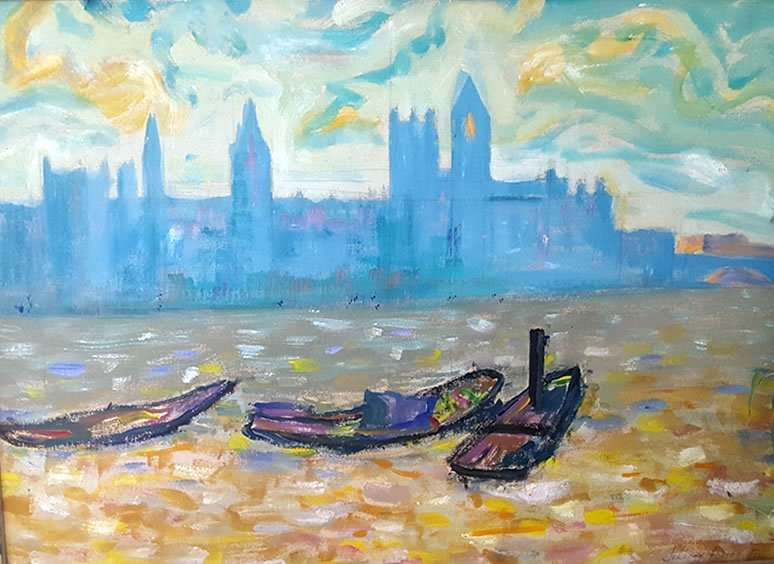 Boats at harbor - Jeremy Foster-Fell - Wolcott VT Artist