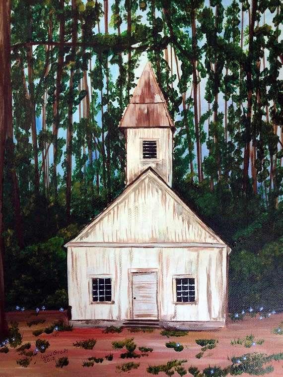 Lynn Grady - Stowe, VT artist - Forget-Me-Not Chapel in the Woods