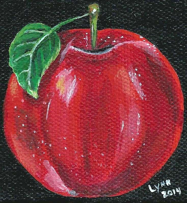 Lynn Grady - Stowe, VT artist - red apple