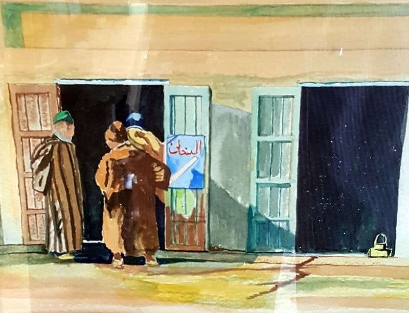 North African street discussion - Jeremy Foster-Fell - Wolcott VT Artist
